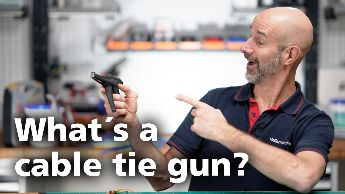How does a cable tie gun work?