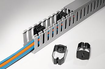 Keep your panel orderly and save time and costs with HelaDuct wire trunking retainers and other accessories.